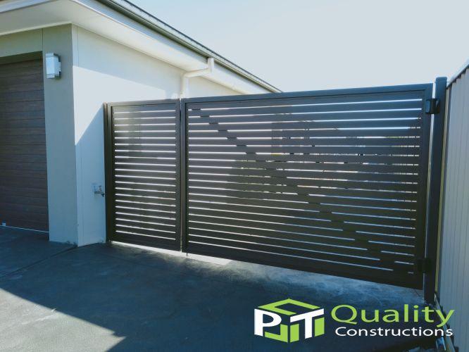 aluminum slat gates