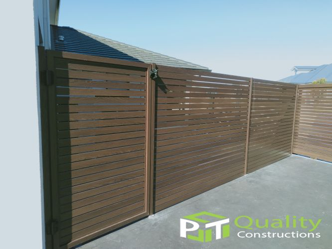 timber look aluminium slats