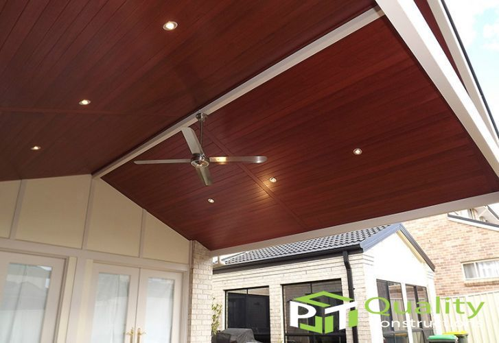 Timber Lined Ceiling Pergolas