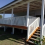timber deck and timber pergola