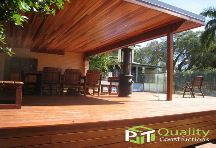 Timber Lined ceiling Pergola